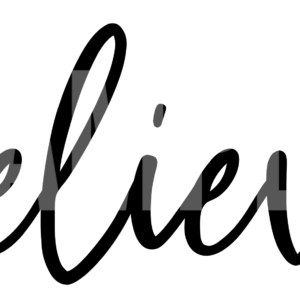 Believe picture of an svg