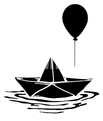 It Boat Balloon SVG