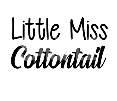 Little Miss Cottontail SVG
