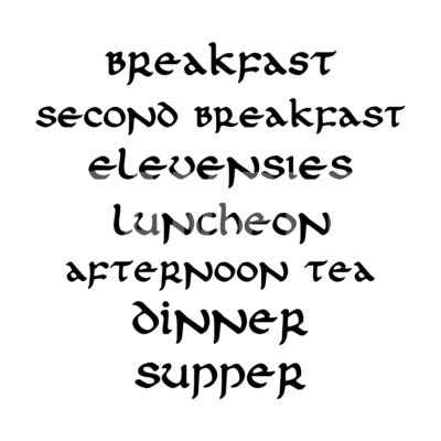 Hobbits Food SVG