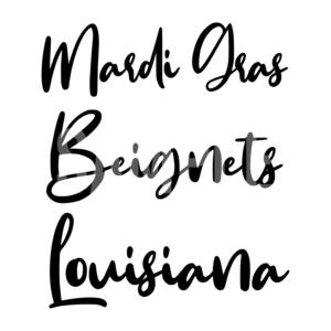 Mardi Gras Beignets Louisiana SVG
