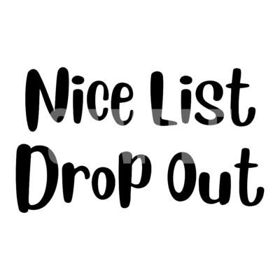 Nice List Drop Out SVG