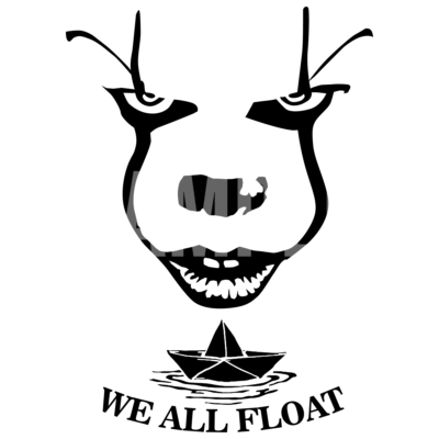 Pennywise Face Boat SVG