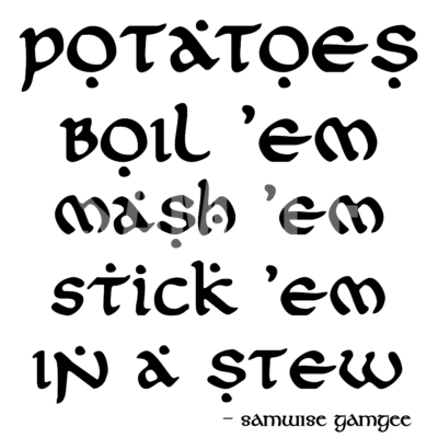 Potatoes Boil 'em Mash' em SVG