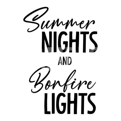 Summer Nights and Bonfire Lights SVG