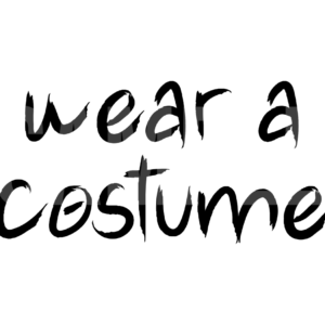 Wear A Costume SVG