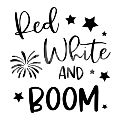 Red White And Boom SVG and PNG